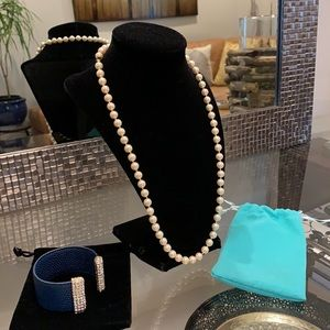 """Marvella Pearl Necklace 7 mm pearls 24.5"""" long"""